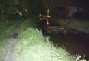 Kanałek Wawerski podczas czerwcowej lokalnej powodzi