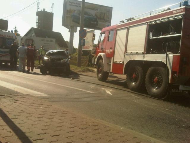 Wypadek na skrzyżowaniu ul. Trakt Brzeski z ul, Jana Pawła II