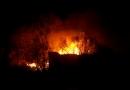 Pożar domu przy ulicy Fabrycznej w Starej Miłośnie