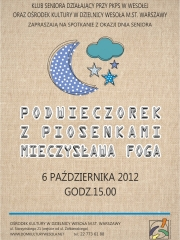 Podwieczorek z piosenkami Mieczysława Foga - spotkanie z okazji Dnia Seniora