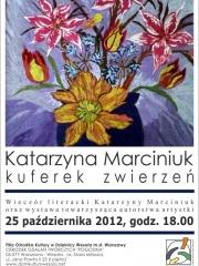 Kuferek zwierzeń - wieczór literacki Katarzyny Marciniuk