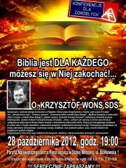 """""""Biblia jest dla każdego – możesz się w niej zakochać!"""" - konferencja dla dorosłych"""