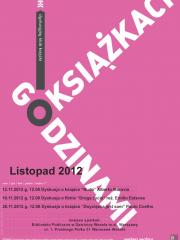 Godzinami o książkach - listopad 2012