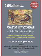 """Wykład """"Powstanie styczniowe na tle konfliktu polsko-rosyjskiego"""""""