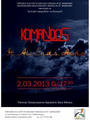 Koncert zespołów rockowy Komandos i It All Ends Here