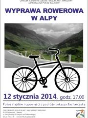 Pokaz slajdów i opowieści z wyprawy rowerowej w Alpy