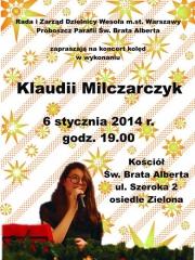 Koncert kolęd w wykonaniu Klaudii Milczarczyk