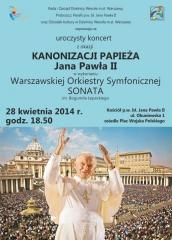 Uroczysty koncert z okazji kanonizacji Papieża Jana Pawła II