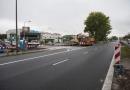 Zamknięty wyjazd z ul. Fabrycznej - budowa świateł, chodnika i przystanku (Fot. ZDM)