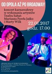Koncert karnawałowy - Od Opola aż po Brodway