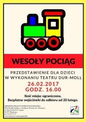 """""""Wesoły pociąg"""" - przedstawienie dla najmłodszych"""
