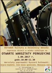 Otwarte Warsztaty Perkusyjne w Wesołej