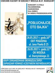 """""""Posłuchajcie, oto bajka"""" - koncertu Filharmonii Narodowej"""