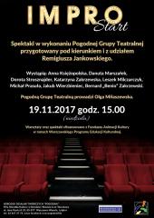 """Impro START"" - spektakl Pogodnej Grupy Teatralnej"