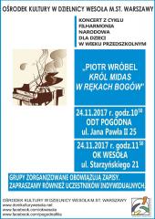 """""""Piotr Wróbel Król Midas w rękach Bogów"""" - koncertu Filharmonii Narodowej"""