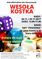 """Spotkanie klubu gier planszowych """"Wesoła Kostka"""""""