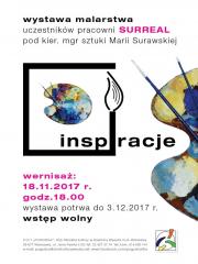 """""""Inspiracje"""" - wystawa prac malarskich uczestników pracowni Surreal"""