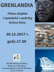 Pokaz slajdów i opowieści z podróży Artura Kota do Grenlandii