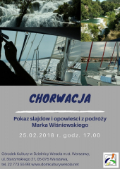 Pokaz slajdów i opowieści z podróży Marka Wiśniewskiego do Chorwacji