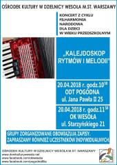 """""""Kalejdoskop rytmów i melodii"""" - koncertu Filharmonii Narodowej"""