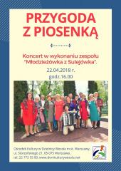 """""""Piosenka z przygodą"""" - koncert zespołu Młodzieżówka z Sulejówka"""