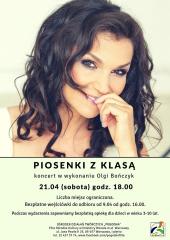 """Piosenki z Klasą"" - koncert Olgi Bończyk"