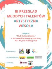 """III Przegląd Młodych Talentów """"Artystyczna Wesoła"""""""
