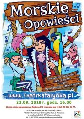 """""""Morskie opowieści"""" to tytuł spektakl teatralny dla dzieci w wykonaniu Teatru Katarynka"""