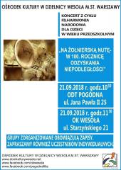 """""""Na żołnierską nutę – w 100. rocznicę odzyskania niepodległości!"""""""