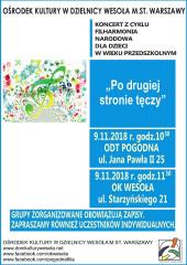 """Koncert Filharmonii Narodowej dla dzieci pt. """"Po drugiej stronie tęczy"""""""
