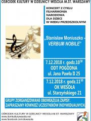"""""""Stanisław Moniuszko – Verbum Nobile"""" - koncert Filharmonii Narodowej"""