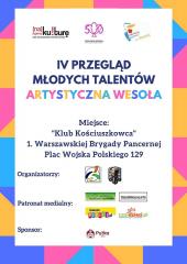 """IV edycji Przeglądu Młodych Talentów """"Artystyczna Wesoła"""""""