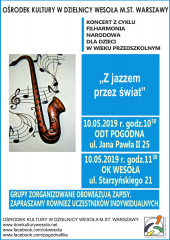 """Koncert Filharmonii Narodowej pt. """"Z jazzem przez świat"""""""