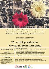 Obchody 75. rocznicy wybuchu Powstania Warszawskiego w Wesołej