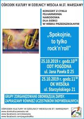 """Koncert Filharmonii Narodowej pt. """"Spokojnie, to tylko rock'n'roll"""""""