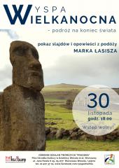 """""""Wyspa Wielkanocna – podróż na koniec świata"""" - pokaz slajdów i opowieści z podróży Marka Łasisza"""