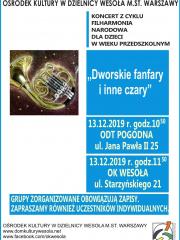 """""""Dworskie fanfary i inne czary"""" - koncert Filharmonii Narodowej dla dzieci"""