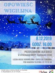"""""""Opowieść Wigilijna"""" w wykonaniu Grupy Teatralnej Echo"""