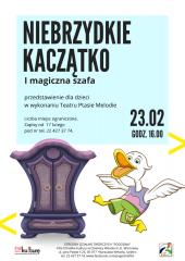 Niebrzydkie Kaczątko i magiczna szafa - spektakl dla dzieci w wykonaniu Teatru Ptasie Melodie