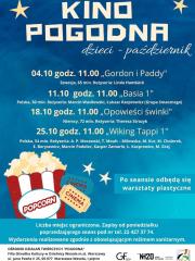 Kino Pogodna dla dzieci - październik